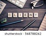 workspace desk with keyboard... | Shutterstock . vector #568788262