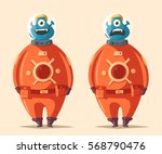 friendly alien. cartoon vector... | Shutterstock .eps vector #568790476