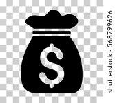 money bag icon. vector... | Shutterstock .eps vector #568799626