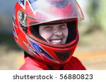 a smiling young  racer | Shutterstock . vector #56880823