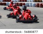 go cart racers struggling on... | Shutterstock . vector #56880877