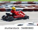 go cart racer struggling on... | Shutterstock . vector #56880883