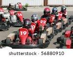 start. go kart racing for kids  ... | Shutterstock . vector #56880910