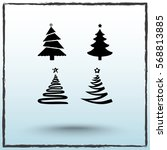 christmas tree sign icons ... | Shutterstock .eps vector #568813885