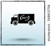 truck sign icons  vector... | Shutterstock .eps vector #568815706