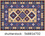 colorful oriental mosaic rug... | Shutterstock .eps vector #568816732