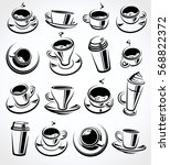 coffee set. vector | Shutterstock .eps vector #568822372