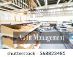warehouse or storehouse with... | Shutterstock . vector #568823485