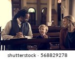 church people believe faith... | Shutterstock . vector #568829278