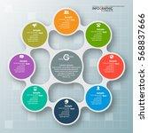 vector abstract 3d paper... | Shutterstock .eps vector #568837666