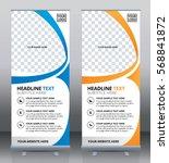 roll up brochure flyer banner... | Shutterstock .eps vector #568841872