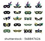 mardi gras various black... | Shutterstock .eps vector #568847626