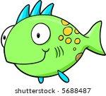 big fish vector illustration   Shutterstock .eps vector #5688487