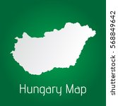 flat hungary map white with... | Shutterstock .eps vector #568849642