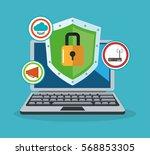 cyber security design | Shutterstock .eps vector #568853305