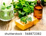 organic cosmetics with herbal... | Shutterstock . vector #568872382