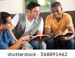 multicultural study group | Shutterstock . vector #568891462