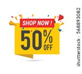 sale vector banner template  ... | Shutterstock .eps vector #568893082