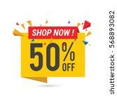 sale vector banner template  ... | Shutterstock .eps vector #568893082