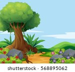Nature Scene With Big Tree...
