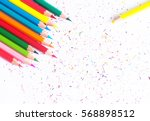 color pencils isolated on white ... | Shutterstock . vector #568898512