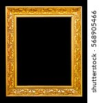 the antique gold frame on the... | Shutterstock . vector #568905466