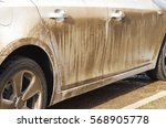 Stock photo dirty car side element of design 568905778