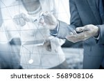 business people discussing the... | Shutterstock . vector #568908106