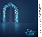 ramadan kareem greeting card...   Shutterstock .eps vector #568914196