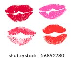 collection print of lips | Shutterstock .eps vector #56892280