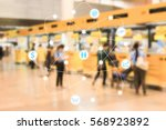 Small photo of Abstract technology futuristic network - Airfare sales counter background.