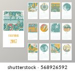 calendar 2017. templates with... | Shutterstock .eps vector #568926592