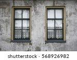 vintage rustic window with... | Shutterstock . vector #568926982