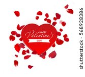 happy valentine's day card. eps ... | Shutterstock .eps vector #568928386