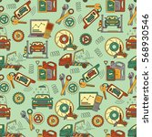 seamless vector pattern with... | Shutterstock .eps vector #568930546