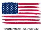grunge american flag.vector... | Shutterstock .eps vector #568931932