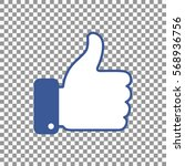 thumb up symbol  finger up icon ... | Shutterstock .eps vector #568936756