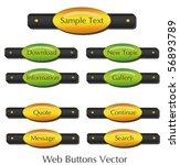 buttons oval vector raster also ... | Shutterstock .eps vector #56893789