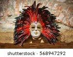 right hand made venetian mask | Shutterstock . vector #568947292