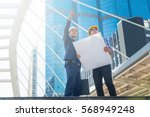 young male architects... | Shutterstock . vector #568949248