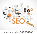concept of seo technology  web ... | Shutterstock .eps vector #568950166
