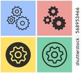 settings vector icons set.... | Shutterstock .eps vector #568953466
