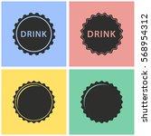 bottle cap vector icons set.... | Shutterstock .eps vector #568954312