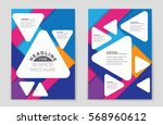 abstract vector layout... | Shutterstock .eps vector #568960612