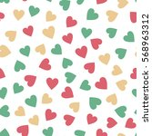 retro seamless pattern with... | Shutterstock .eps vector #568963312