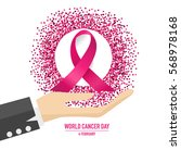 world cancer day. february 4.... | Shutterstock .eps vector #568978168