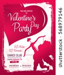 valentine's day poster template ... | Shutterstock .eps vector #568979146
