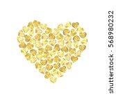 golden glittering valentines...   Shutterstock .eps vector #568980232