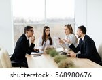 business conference. business... | Shutterstock . vector #568980676