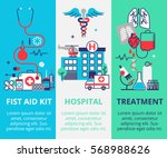 three vertical medical banner... | Shutterstock .eps vector #568988626